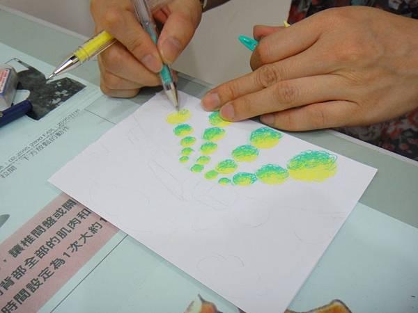》學生鋼珠筆塗抹風景畫練習(4)