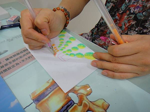 》學生鋼珠筆塗抹風景畫練習(5)