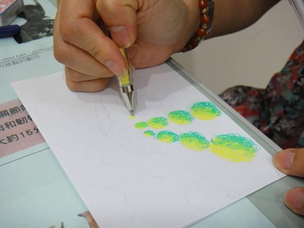 》學生鋼珠筆塗抹風景畫練習(3)