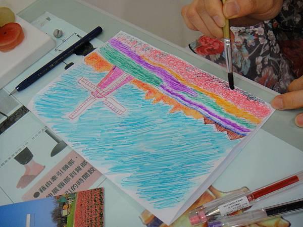 》學生鋼珠筆刷水風景畫練習(9)