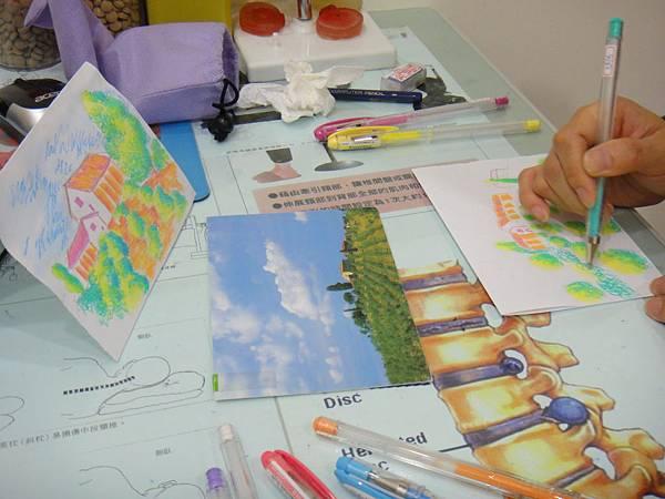 》學生鋼珠筆塗抹風景畫練習(7)
