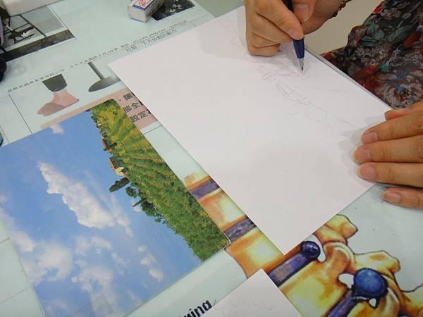 》學生鋼珠筆塗抹風景畫練習(1)