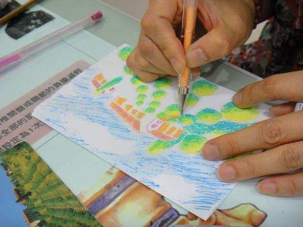 》學生鋼珠筆塗抹風景畫練習(8)