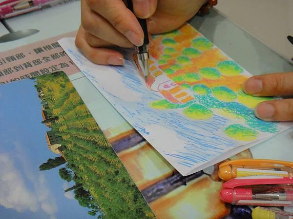 》學生鋼珠筆塗抹風景畫練習(11)