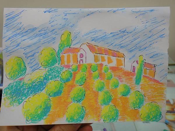 》學生鋼珠筆塗抹風景畫練習(成品)