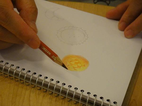 》學生色鉛畫麵包練習(2)