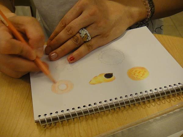 》學生色鉛畫麵包練習(7)