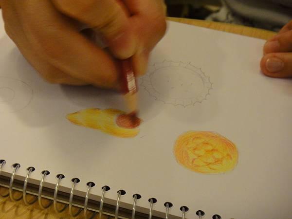 》學生色鉛畫麵包練習(5)