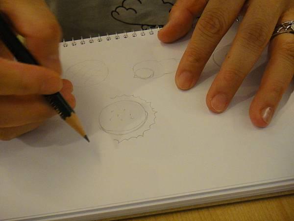 》學生色鉛畫麵包練習(1)