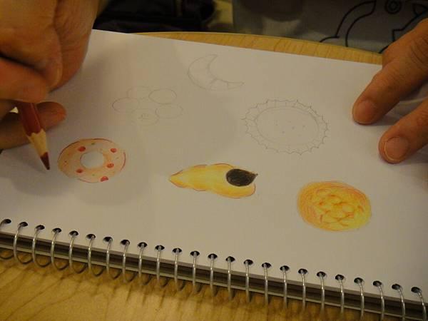 》學生色鉛畫麵包練習(8)