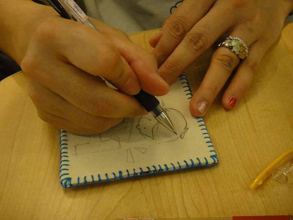 》學生鋼珠筆畫杯墊(4)