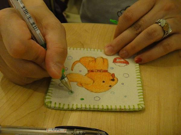 》學生鋼珠筆畫杯墊(2)