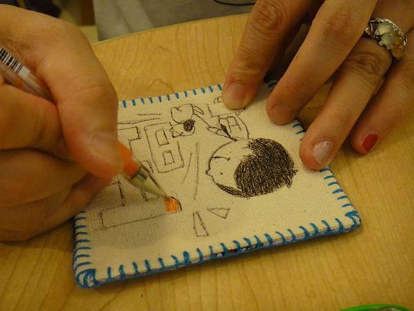 》學生鋼珠筆畫杯墊(6)