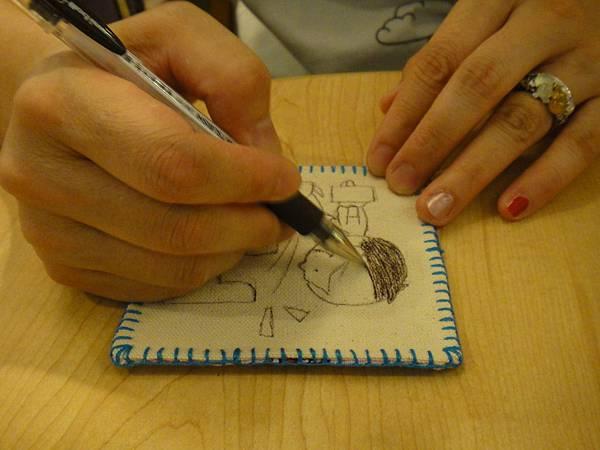》學生鋼珠筆畫杯墊(5)