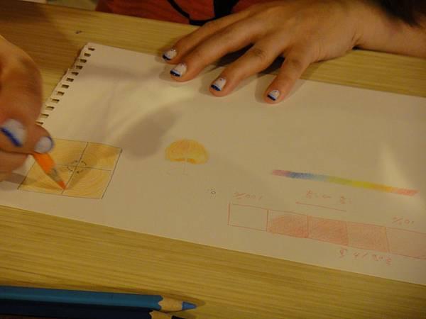 》學生色鉛弧線上色練習