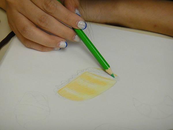 》學生色鉛光影上色練習(14)