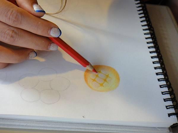》學生色鉛光影上色練習(9)