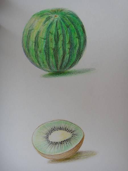 》學生色鉛光影上色練習作業(1)
