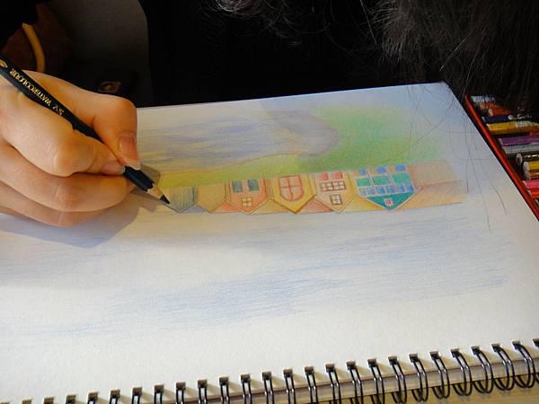 》學生色鉛風景畫練習(10)