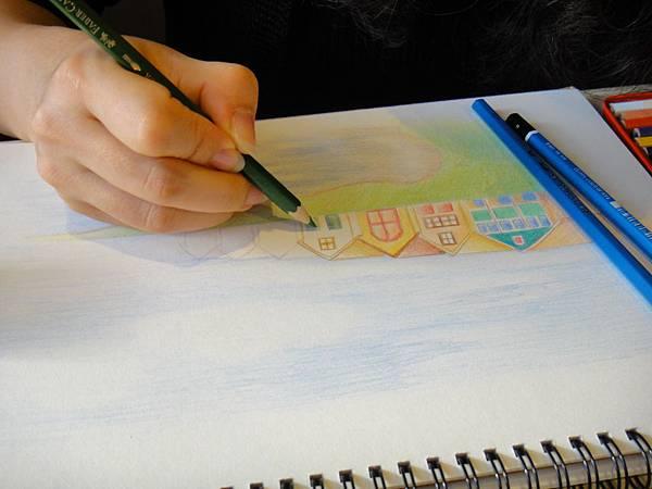 》學生色鉛風景畫練習(9)