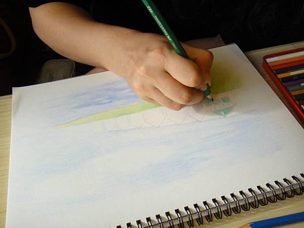 》學生色鉛風景畫練習(7)