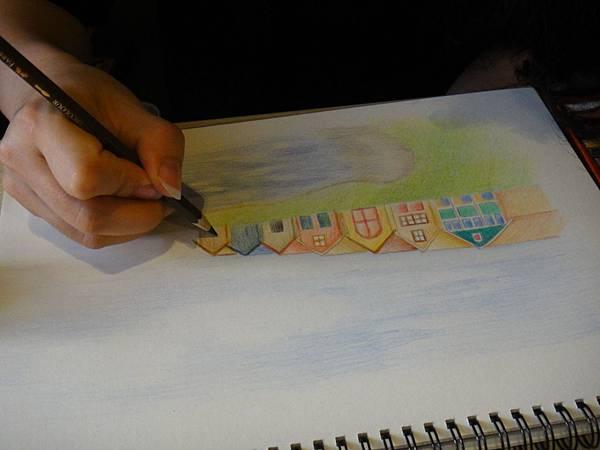 》學生色鉛風景畫練習(11)
