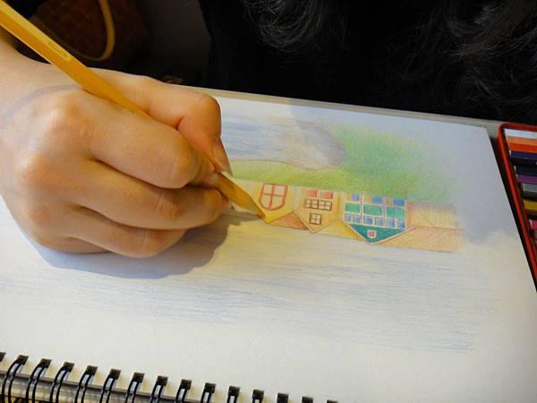 》學生色鉛風景畫練習(8)