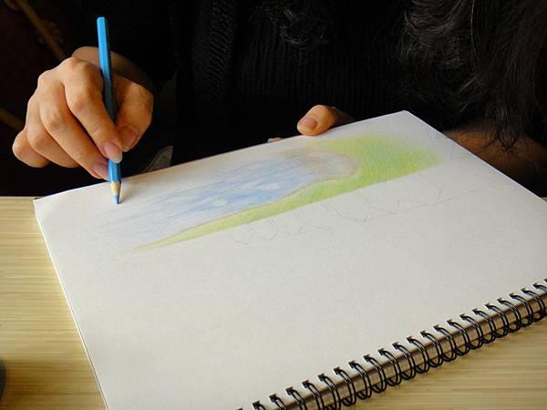 》學生色鉛風景畫練習(5)
