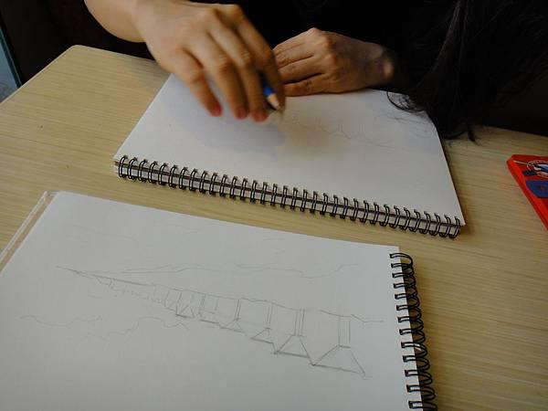 》學生色鉛風景畫練習(1)