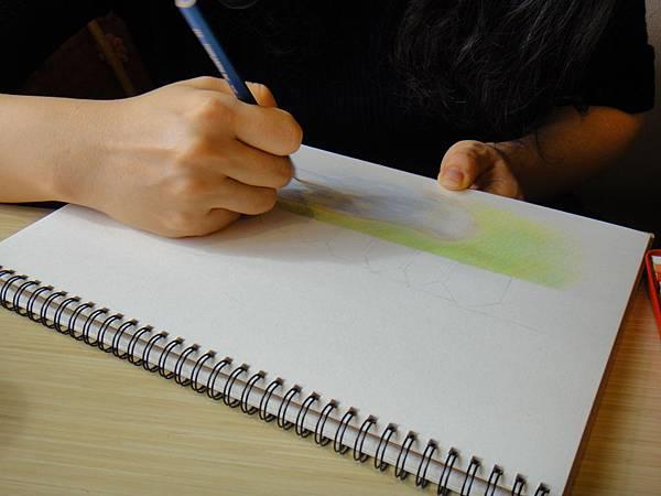 》學生色鉛風景畫練習(4)