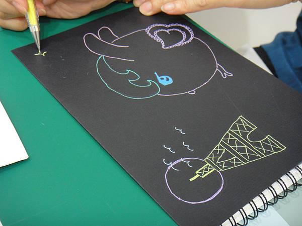 》學生黑底紙創作(1)