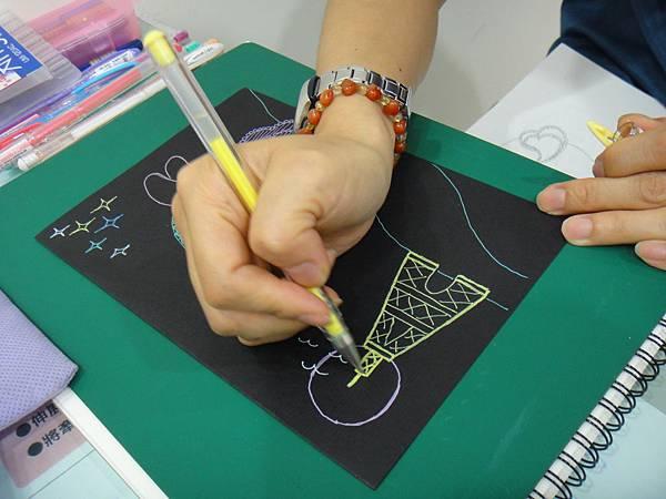 》學生黑底紙創作(4)