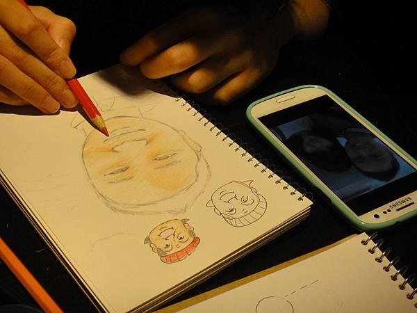 》學生人像畫練習(3)