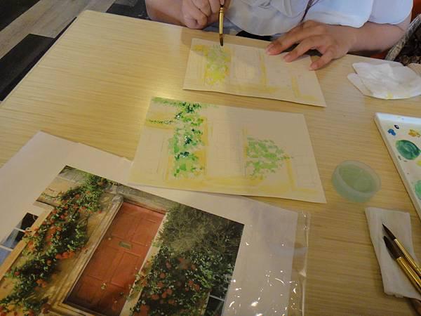 》學生庭園花草上色跟畫(2)