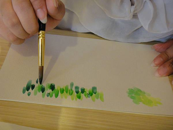 》學生花草上色筆法練習(2)