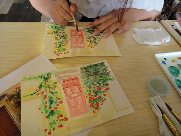 》學生庭園花草上色跟畫(7)