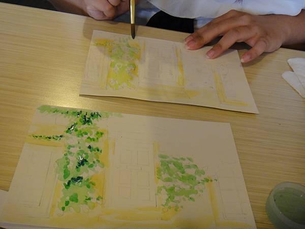 》學生庭園花草上色跟畫(3)