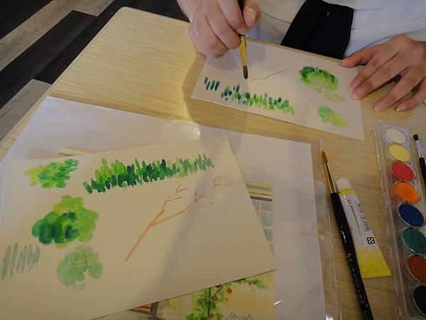 》學生花草上色筆法練習(3)
