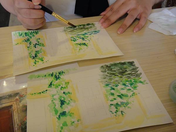 》學生庭園花草上色跟畫(6)