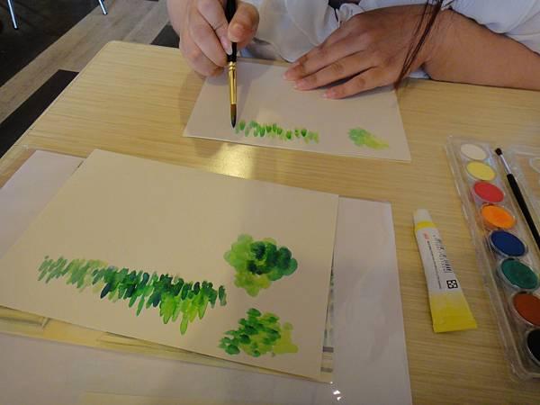 》學生花草上色筆法練習(1)