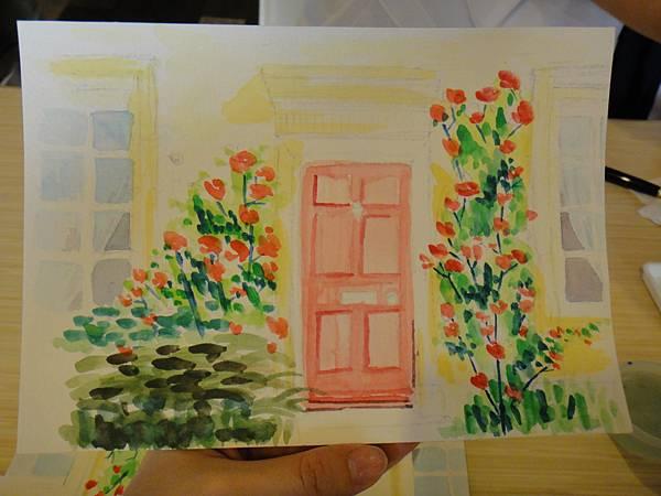 》學生庭園花草上色跟畫(13)