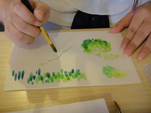 》學生花草上色筆法練習(5)