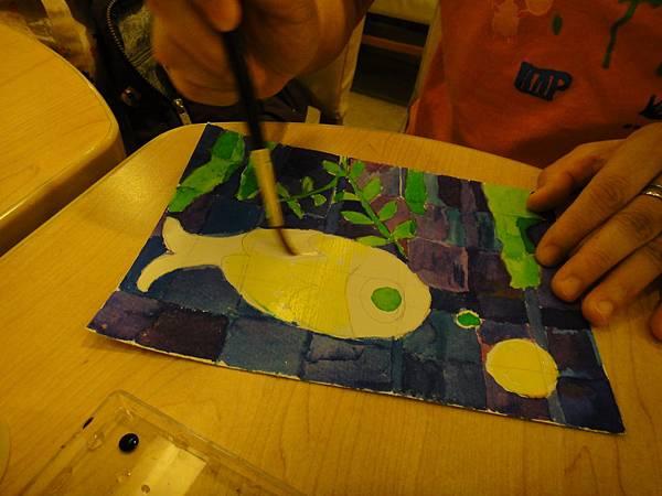 》學生彩色墨水鑲嵌畫上色練習(7)