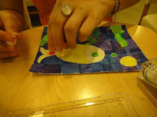 》學生彩色墨水鑲嵌畫上色練習(8)