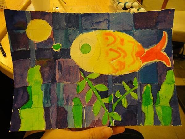 》學生彩色墨水鑲嵌畫上色練習(成品)