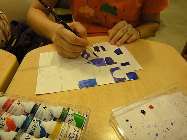 》學生彩色墨水鑲嵌畫上色練習(3)