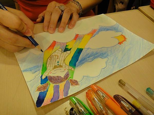 》學生色鉛+彩色墨水+鋼珠筆畫練習(4)