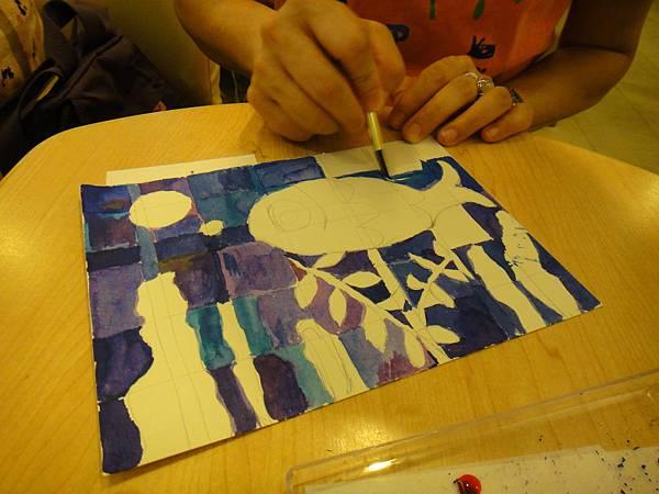 》學生彩色墨水鑲嵌畫上色練習(5)