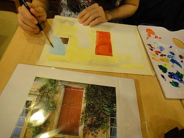 》學生實景庭園花草壓克力畫練習(5)