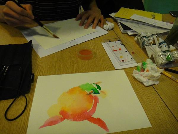 》學生彩色墨水染色練習(1)